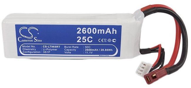2600mAh 28.86Wh Li-Polymer 11.1V 3S 25C (Cameron Sino)