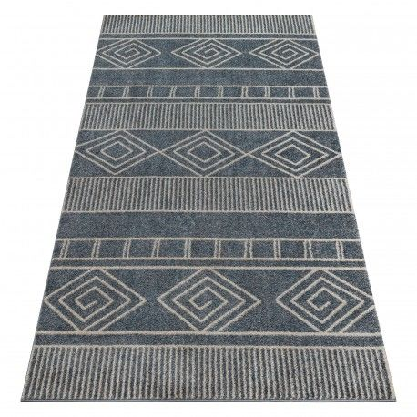 Dywan SOFT 8040 AZTECKI BOHO szary 80x150 cm