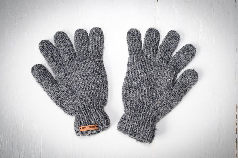 Rękawiczki z wełny popielate