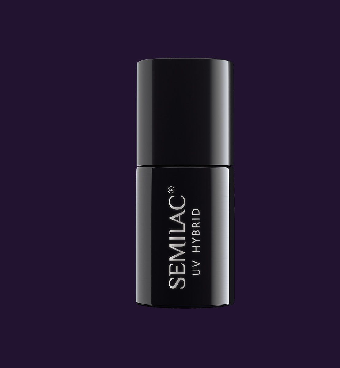 SEMILAC 100 Black Purple UV LED Lakier Hybrydowy 7ml