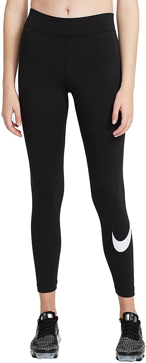Nike Spodnie damskie Essential Gx Mr Swoosh czarny/(biały). S