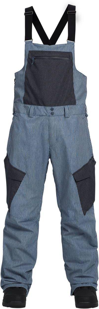 zimowe spodnie męskie BURTON RESERVE BIB PT Open Road Stripe/Denim