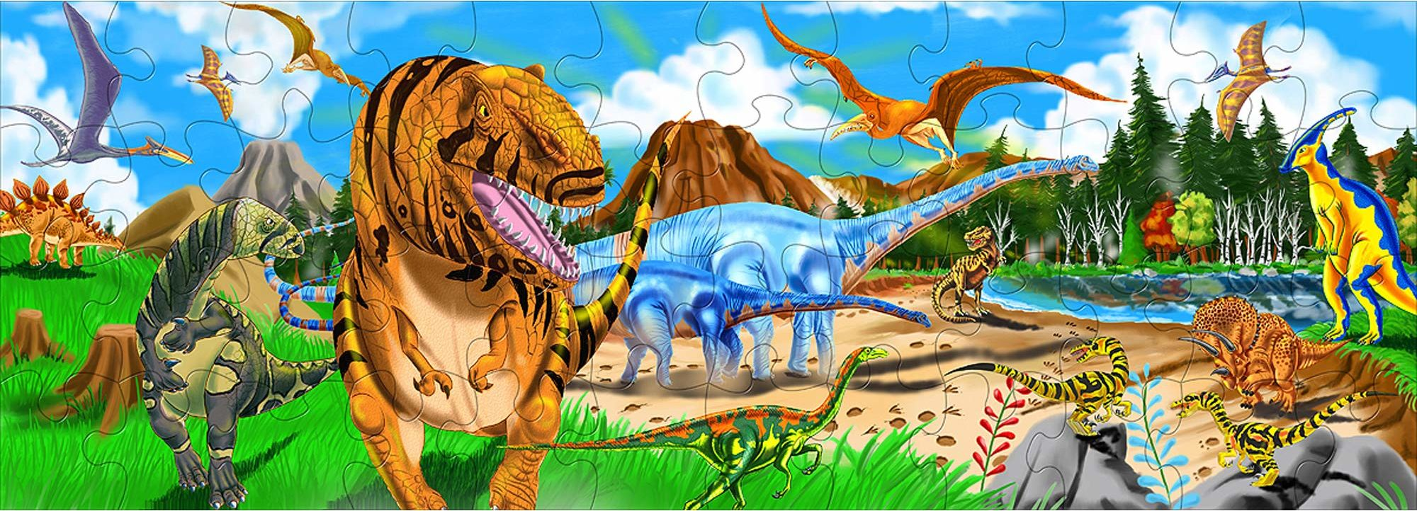 Melissa & Doug puzzle podłogowe - kraj dinozaura (48 części)