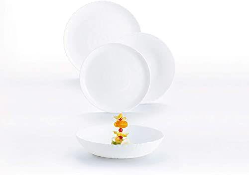 Luminarc 9319101 zastawa stołowa ze szkła opalowego, bardzo mocna, dla 6 osób, nie zawiera BPA, wyprodukowana we Francji