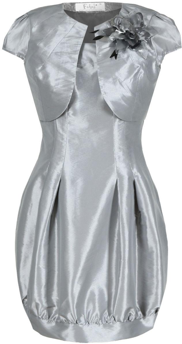 Sukienka FSU182 SZARY