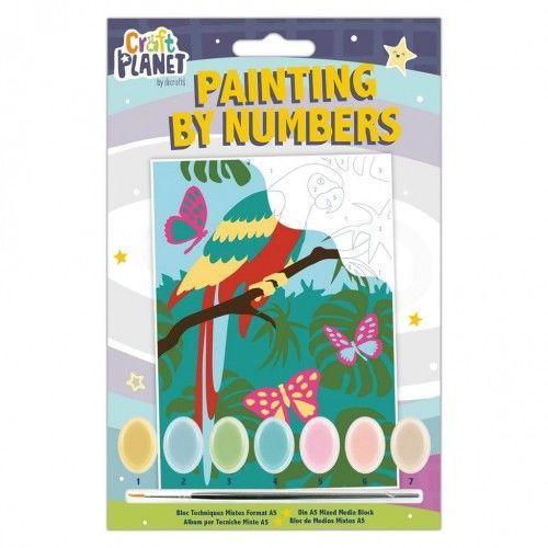 Kreatywny zestaw do malowania Papuga