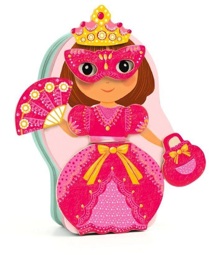Magnesy w pudełku bal przebierańców DJ03084-Djeco, układanki dla dzieci