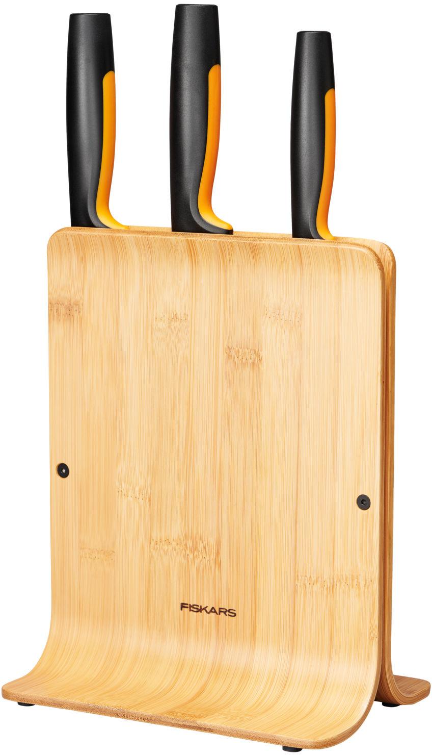FISKARS Functional Form Zestaw 3 noży w bambusowym bloku FISKARS 1057553