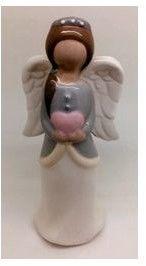 Figurka Anioł ceramiczny Rozmiar: 3.7x3x9.2 cm SKU: SAJY17H518B-1
