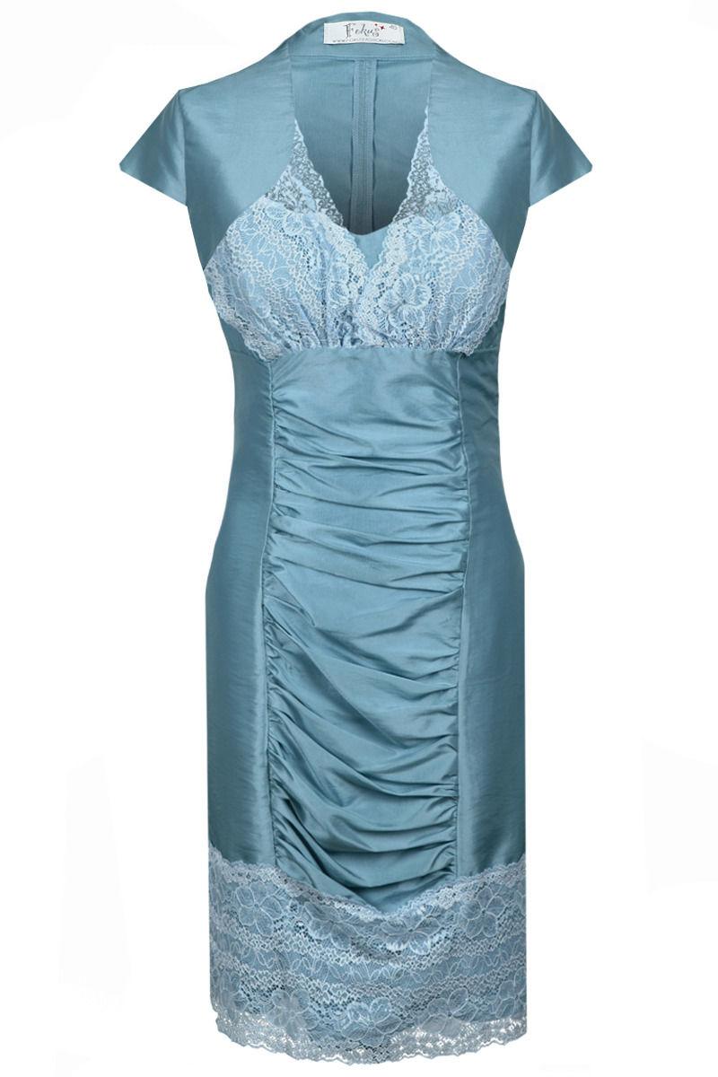 Sukienka FSU178 BŁEKITNY CIEMNY