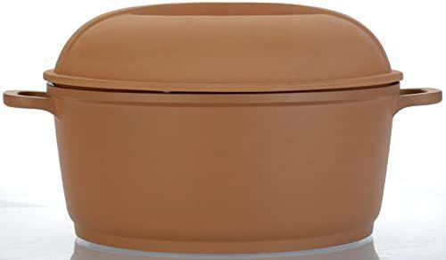 Berghoff Cast Line naczynie do pieczenia z glinianą pokrywką 24 cm  4,1 litra indukcyjne