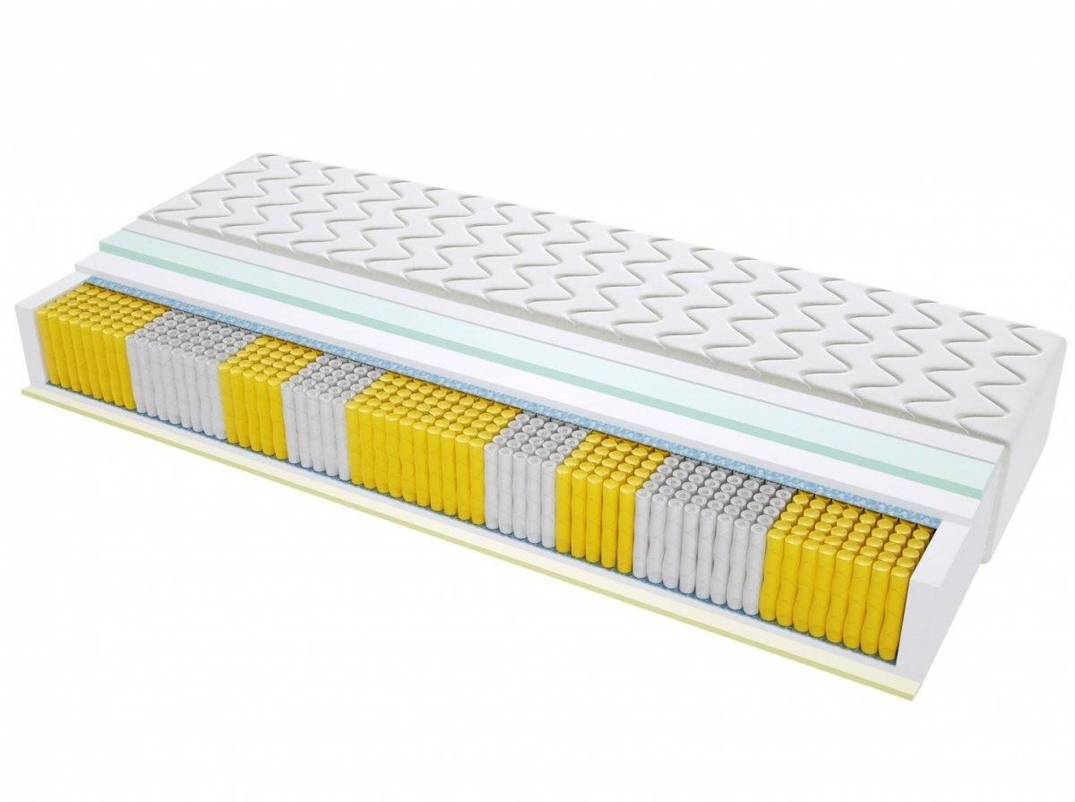 Materac kieszeniowy BRAGA MULTIPOCKET 90x190 cm Średnio twardy 2x Lateks Visco Memory
