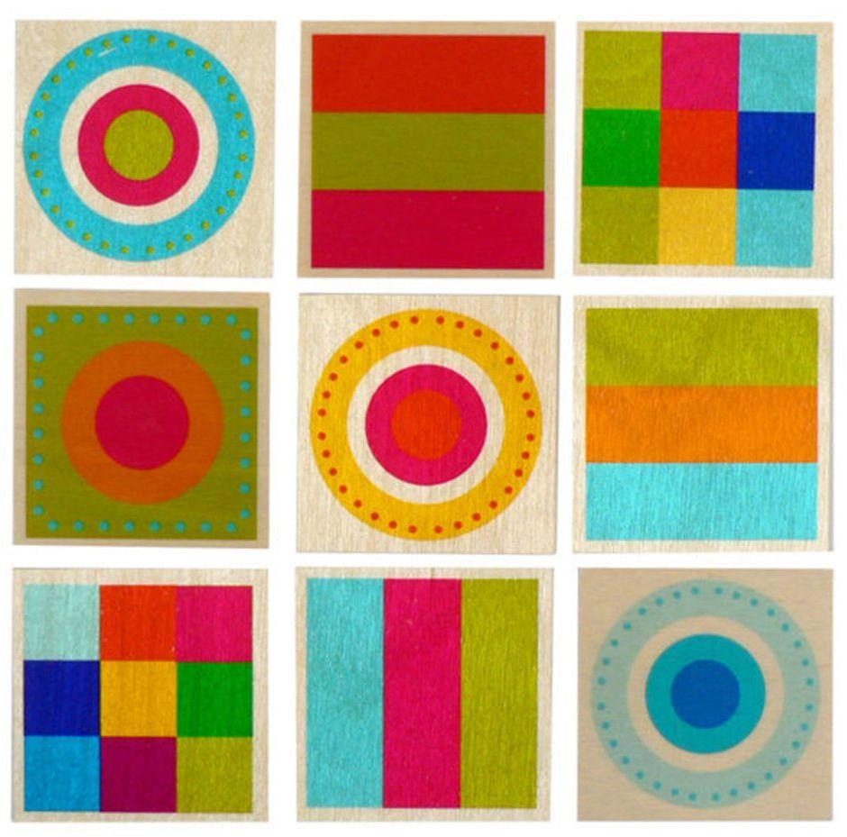 Hess drewniana zabawka 14921 - memo z drewna, 24 części, kolorowe kształty