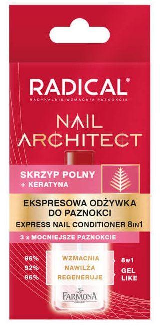 RADICAL Nail Architect Ekspresowa odżywka do paznokci 8w1 12ml