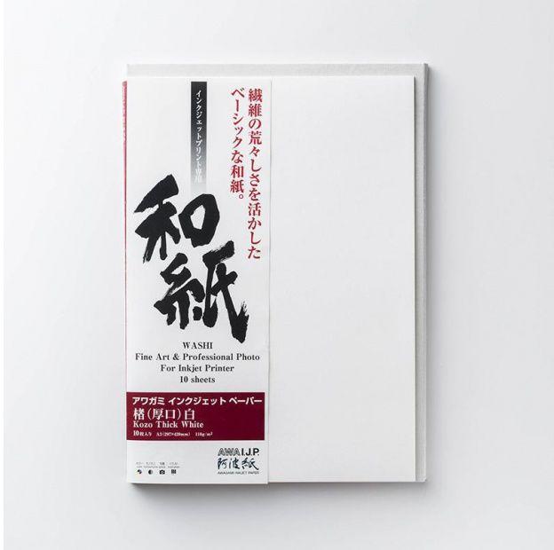 Papier AWAGAMI Kozo Thick White - A1, 10 arkuszy (IJ-0331)