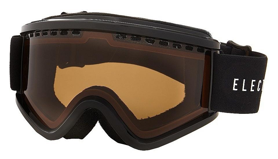 okulary snowboardowe dziecięce ELECTRIC EGV.K GLOSS BLACK BRONZE