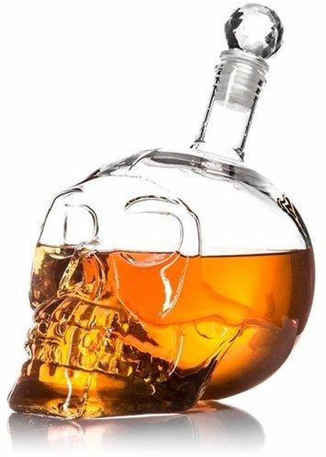 Karafka kryształowa Czaszka - 650 ml