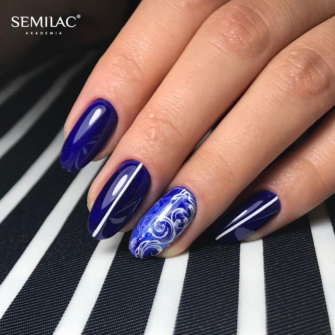 SEMILAC 088 Blue Ink UV LED Lakier Hybrydowy 7ml