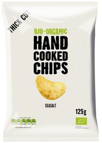 Chipsy ziemniaczane cienko krojone z solą morską BIO 125 g - Trafo