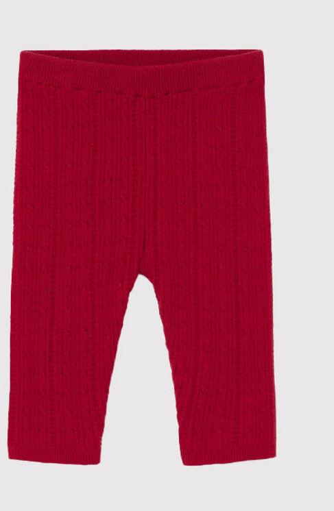 Legginsy 10100 Czerwony Slim Fit