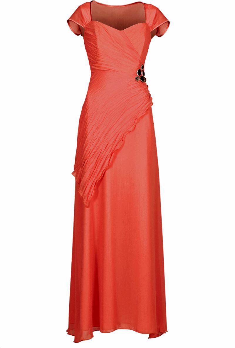 Sukienka FSU167 KORALOWY