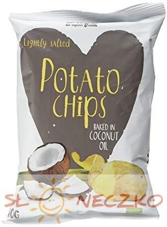 Chipsy ziemniaczane smażone na oleju kokosowym BIO 100g - Trafo