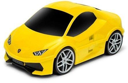 Lamborghini Huracan - żółty - Walizka samochód Welly Ridaz