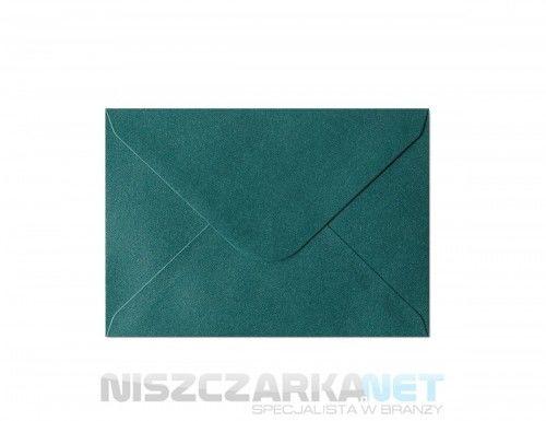 Koperta / koperty ozdobne C6 - opk 10szt 150g/m2 ZIELONY PERŁOWY