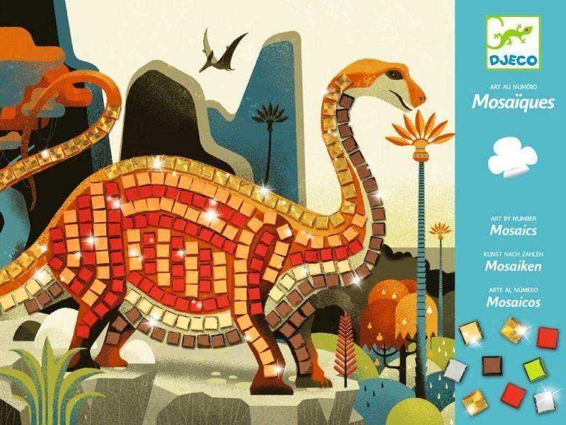 Kolorowa mozaika z dinozaurem DJ08899-Djeco, zestaw kreatywny