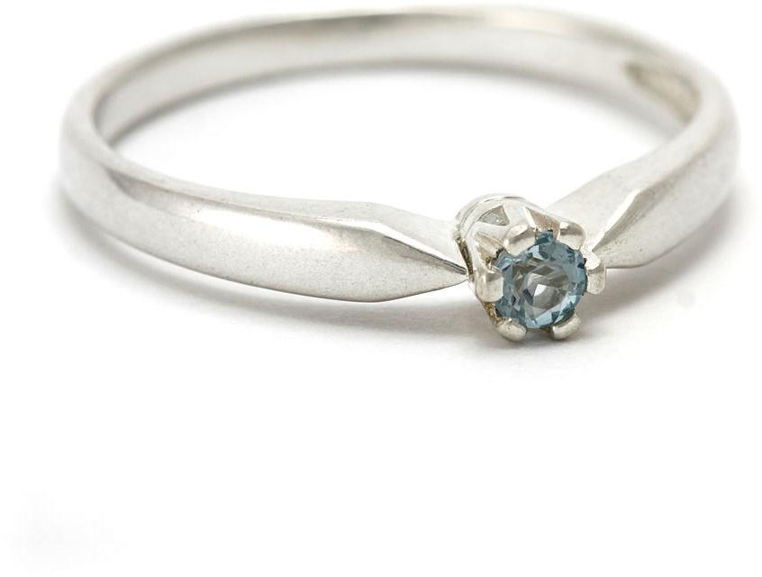 Kuźnia Srebra - Pierścionek srebrny, rozm. 20, Niebieski Topaz, 2g, model
