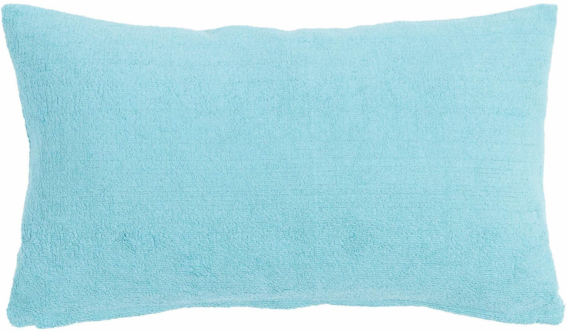 Linen & More poduszka dekoracyjna, bawełna, turkusowa, 30 x 50 cm
