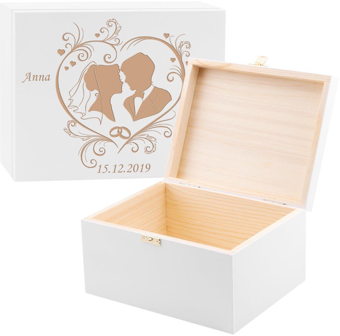 Drewniana szkatułka na upominki Pudełko wspomnień Prezent z Grawerem
