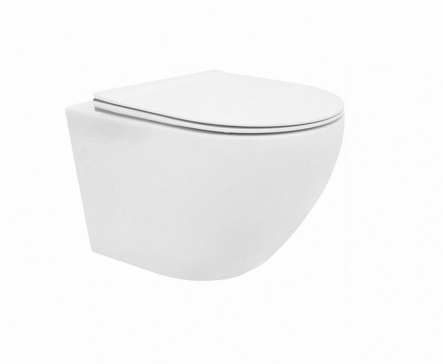 Miska WC podwieszana z deską Carlo Mini Rimless Flat Rea (REA-C2760)