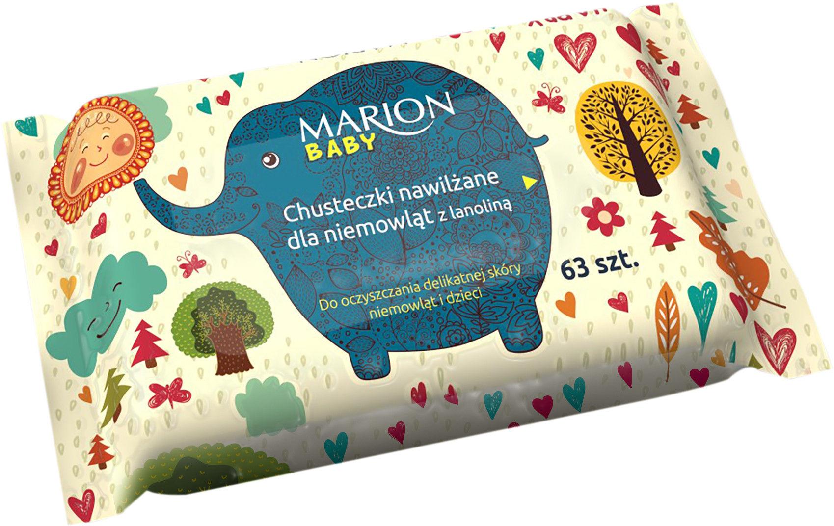 Marion Chusteczki nawilżane dla niemowląt z lanoliną 63szt