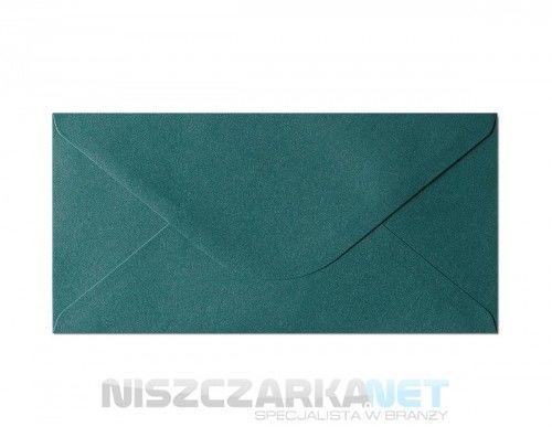 Koperta /Koperta / koperty ozdobne DL - opk 10szt 150g/m2 ZIELONY PERŁOWY