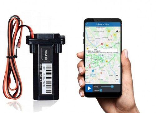 Mały Lokalizator GPS Zeus pod zasilanie do Łodzi, Motoru lub Pojazdu