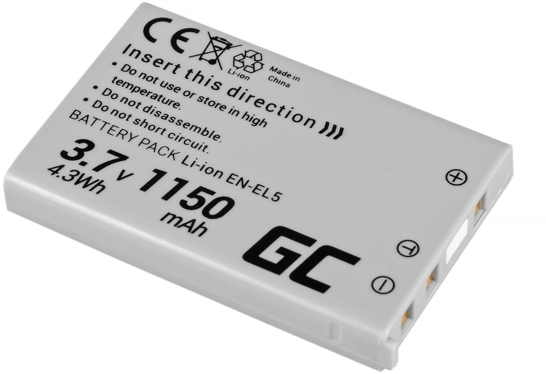 Akumulator Bateria Green Cell  EN-EL5 do Nikon Coolpix P3 P4 P80 P90 P100 P500 P510 P520 P530 S10 3700 4200 7900 3.7V 1150mAh