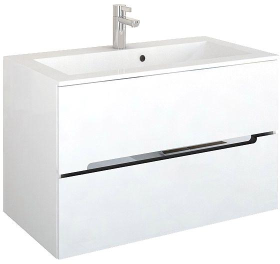 Oristo Silver szafka z umywalką 90x55x44cm biały połysk OR33-SD2S-90-1/UME-SI-90-92