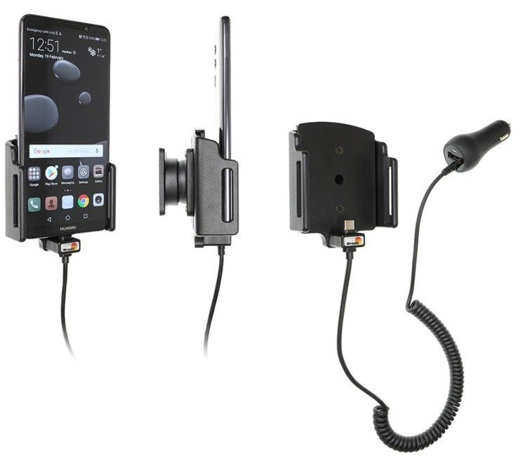 Uchwyt do Huawei Mate 10 Pro z wbudowaną ładowarką samochodową