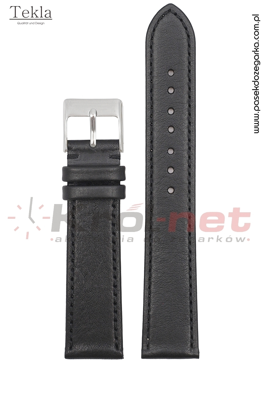Pasek TK120/18XL - czarny, gładki