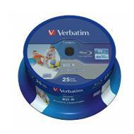 Verbatim BluRay BD-R SL 25 GB x6 25 szt. DATALIFE do nadruku