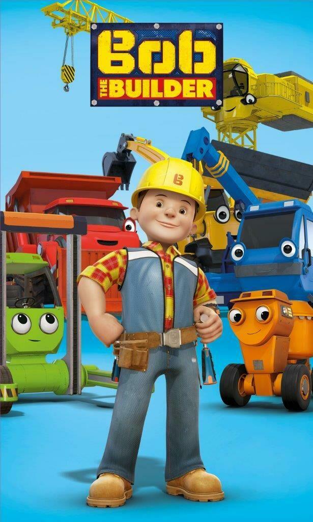 Ręczniczek do przedszkola 30x50 Bob Budowniczy 8343 dźwig koparka niebieski dziecięcy bawełniany