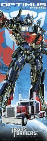 1art1 54468 Transformers - 3, Dark Of The Moon, Optimus plakat na drzwi (158 x 53 cm)