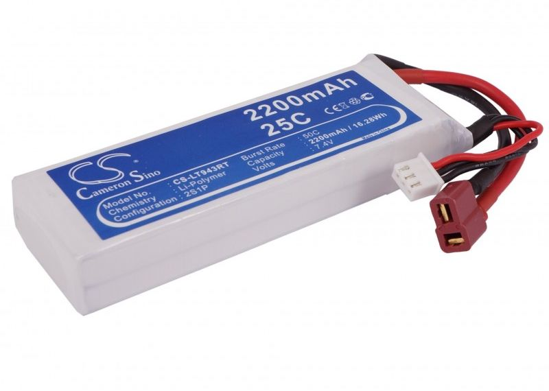 2200mAh 16.28Wh Li-Polymer 7.4V 2S 25C (Cameron Sino)
