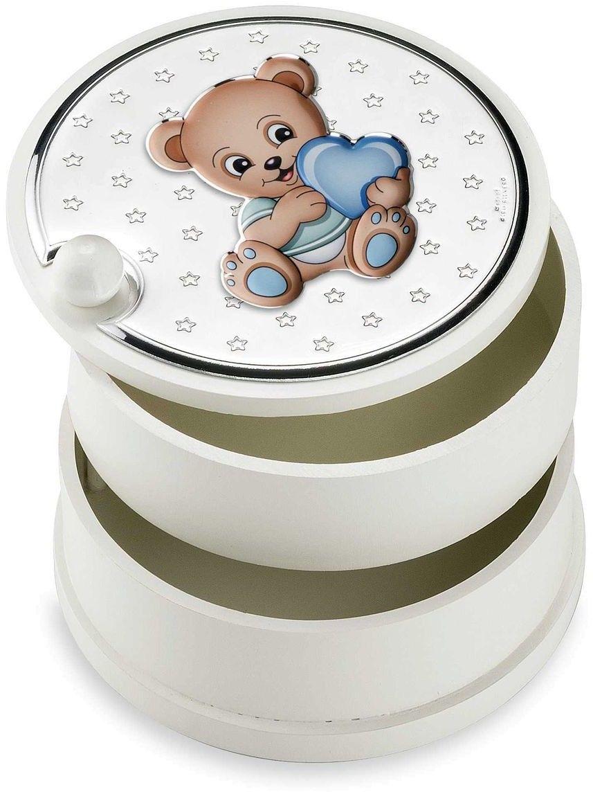 Szkatułka dziecięca Rozmiar: Fi 12 cm H9 cm Kolor: Niebieski SKU: VL75110C