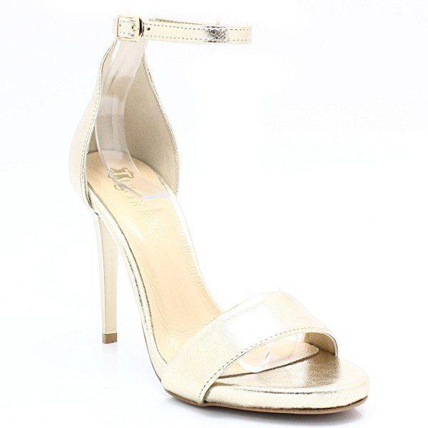 Eleganckie sandały, skóra - TYMOTEO LALI ZŁOTE