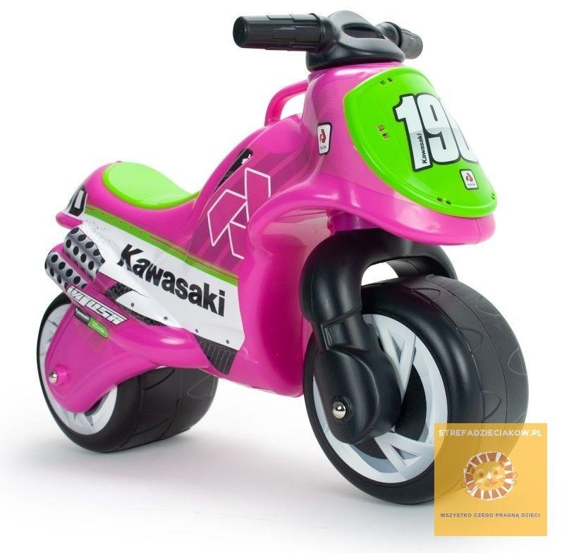 INJUSA Kawasaki Różowy Motorek Biegowy dla Dzieci