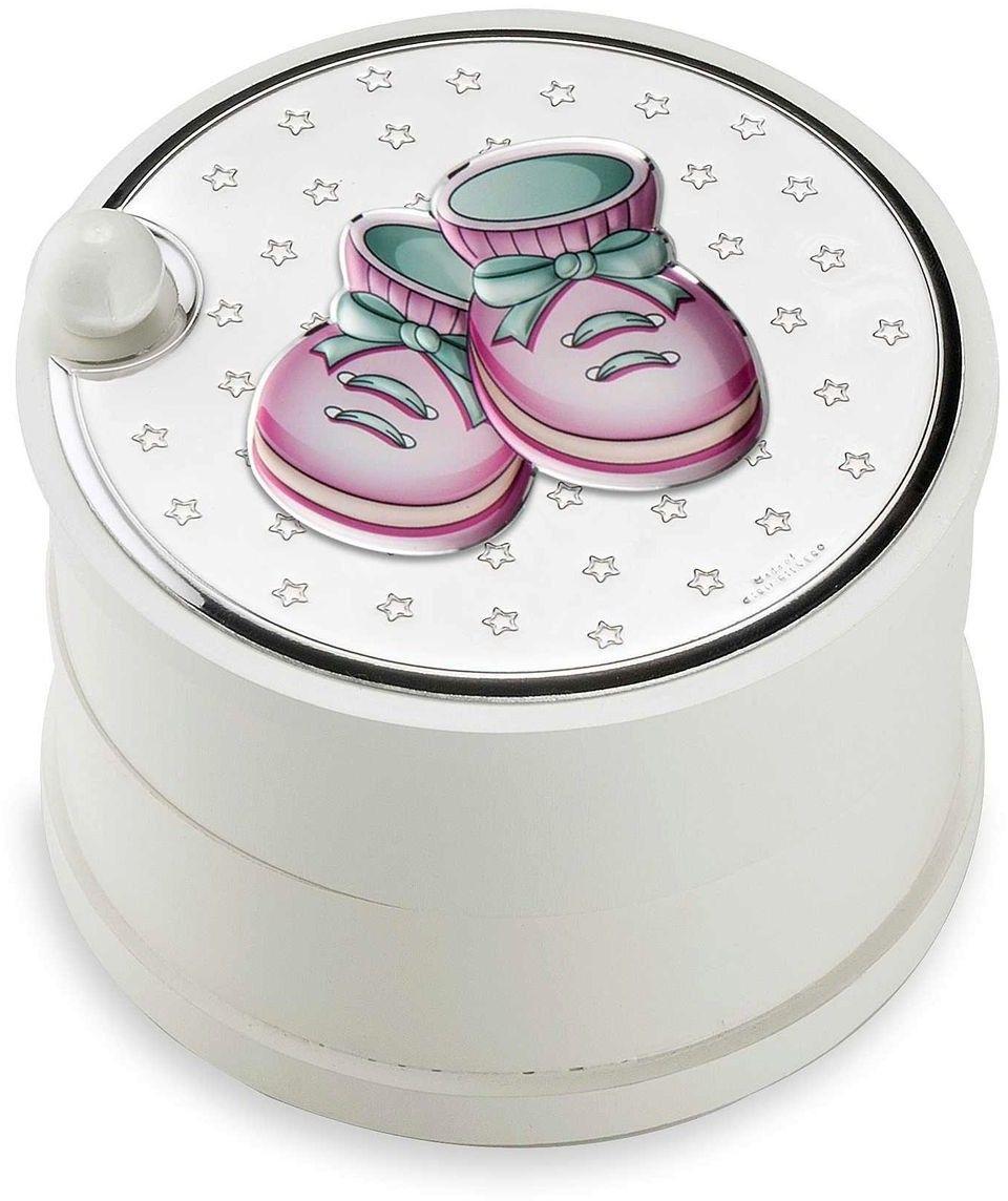 Szkatułka buciki Rozmiar: Fi 12 cm H9 cm Kolor: Różowy SKU: VL75111R