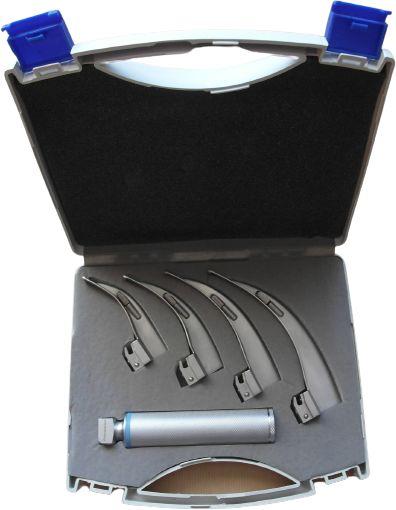 Laryngoskop MCINTOSH z 4 łyżkami w etui plastikowym