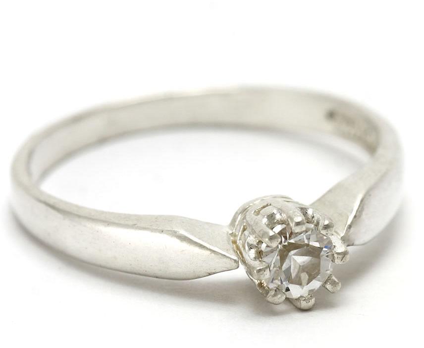 Kuźnia Srebra - Pierścionek srebrny, rozm. 20, Biały Topaz, 2g, model